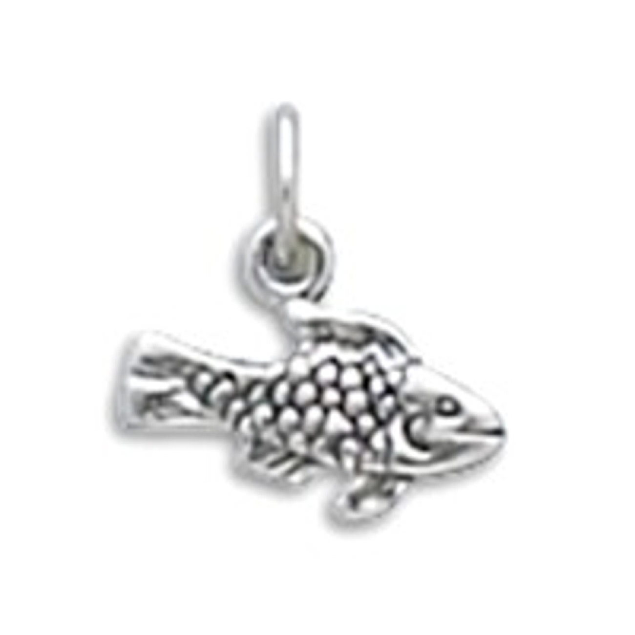 Small 3D Scaled Fish Charm