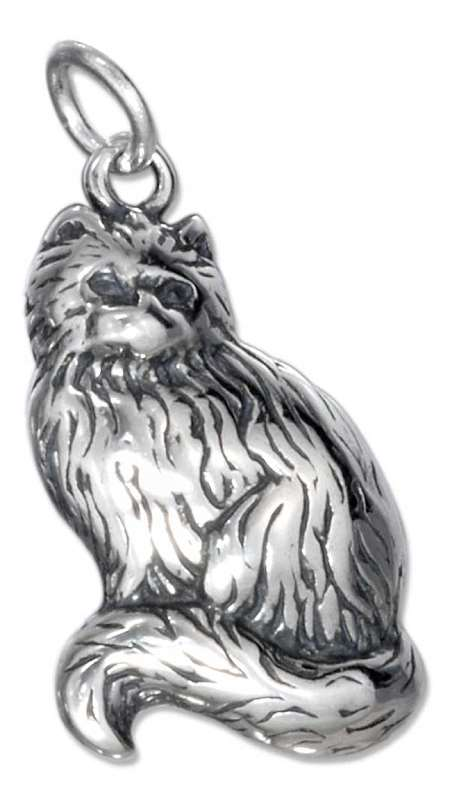 Adult Long Hair Furry Fuzzy Cat Charm