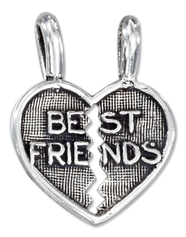 BEST FRIENDS Two Piece Shareable Heart Pendants