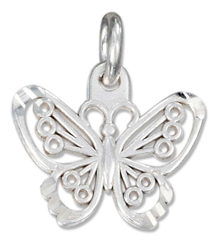 Small Filigree Butterfly Charm