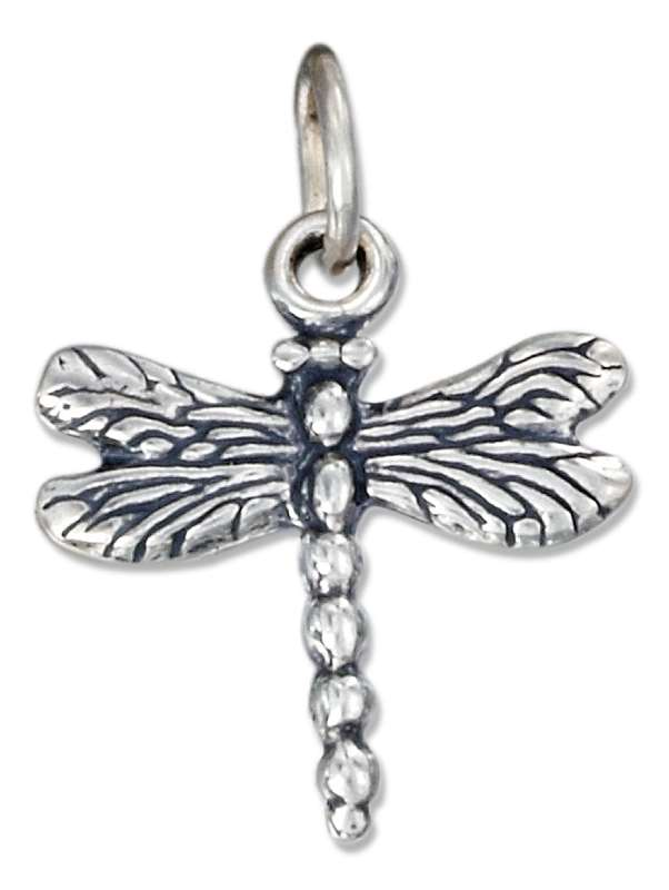 Small 3D Dragonfly Charm