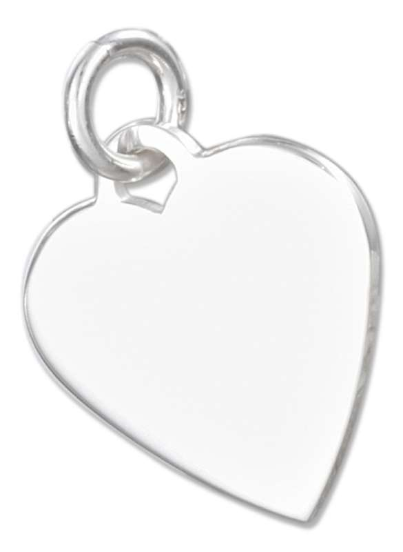 Small Engraveable Heart Charm 9mm