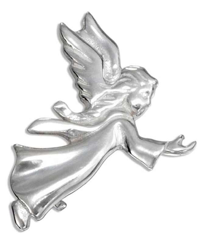 Guardian Angel Outstretched Hand Brooch Pin