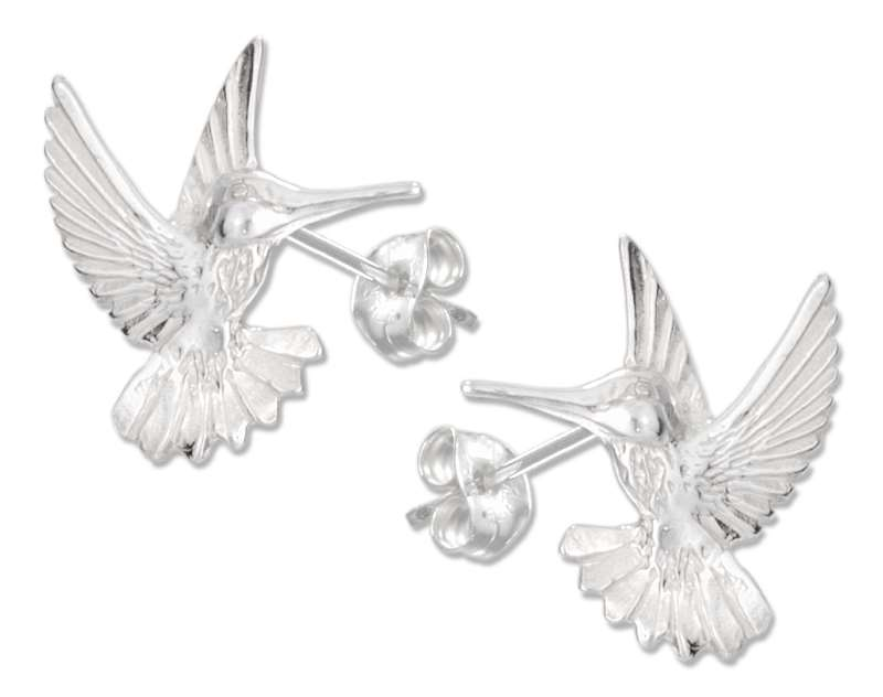 Small Hummingbird Post Earrings