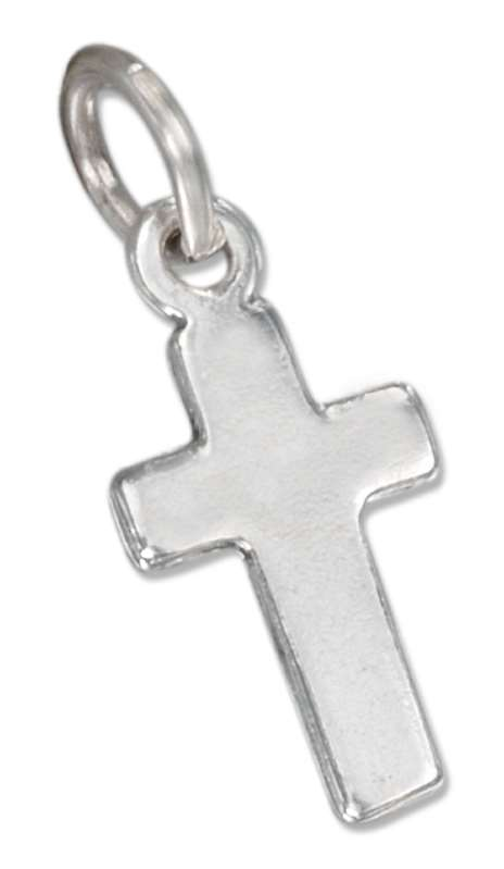 Small Plain Cross Charm