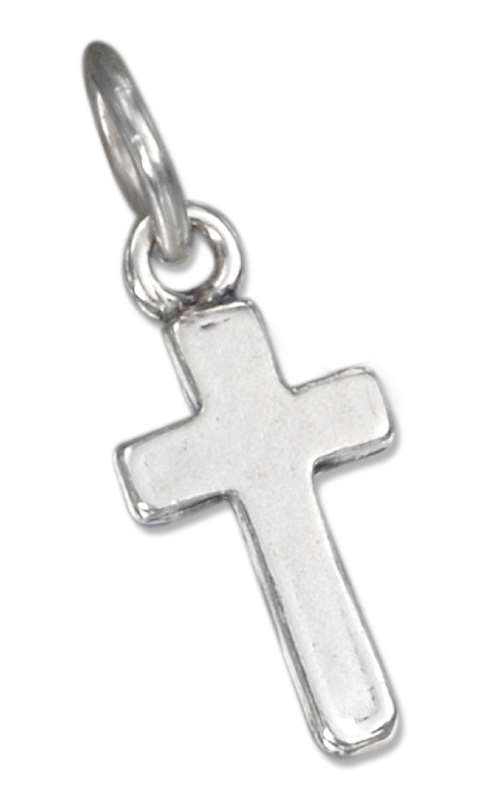 Small Plain Thin Cross Charm