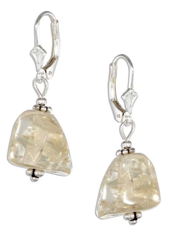 Polished Citrine Stones Beading Earrings