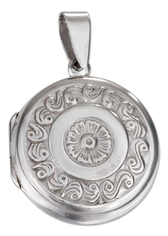 Sailor's Round Fancy Flower Valentine Type Locket Pendant