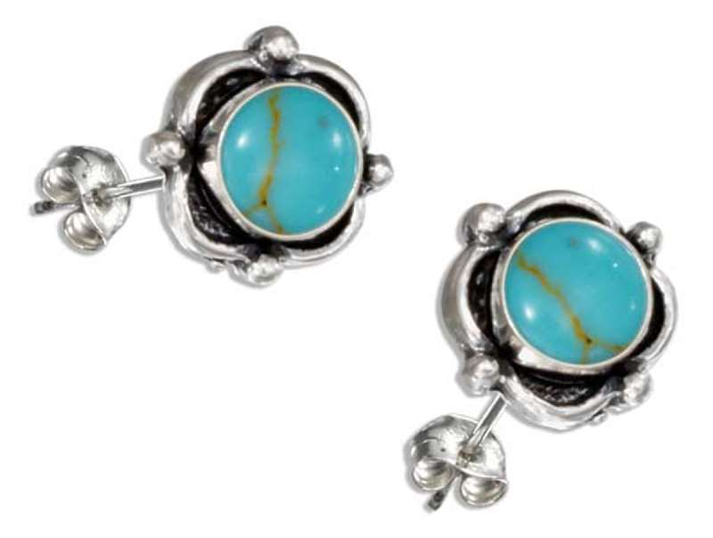 Shopping Product  Q Mens Sterling Silver Turquoise Rings
