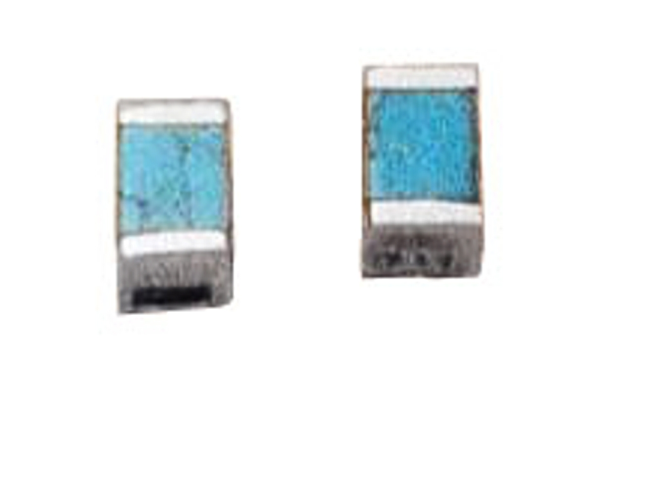 Turquoise Block Post Earrings
