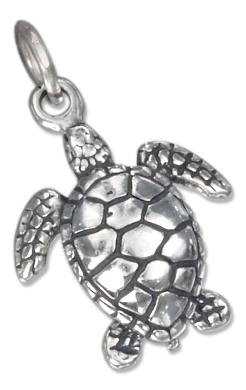 3D Small Ocean Sea Turtle Charm