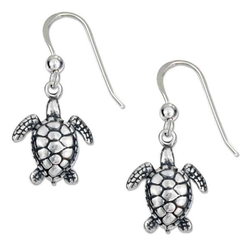 Small Turtle Dangle Earrings