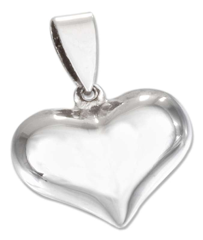 3D Wide Puffed Heart Pendant