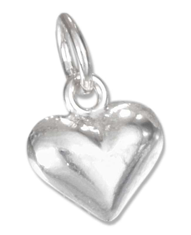 Small Puffed Heart Charm [CH-1212]