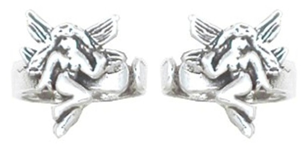 Left And Right Ear Small Winged Fairy Band Middle Inner Ear Cuff Set