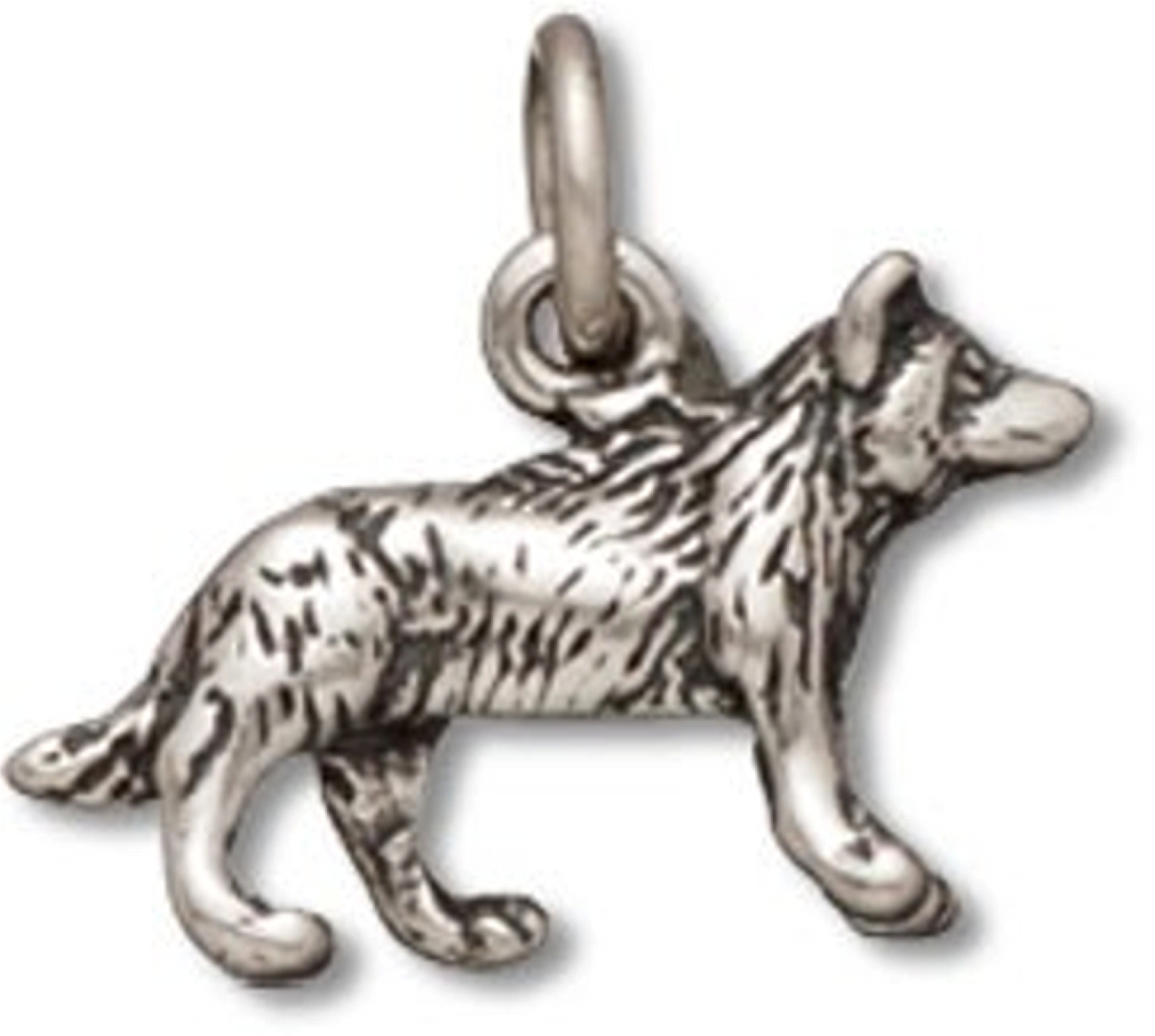 3D Small Wolf Or Dog Charm