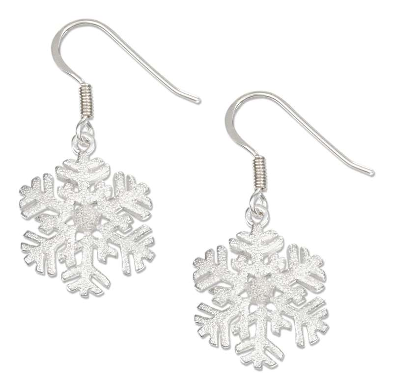 Sparkly Snowflake Dangle Earrings