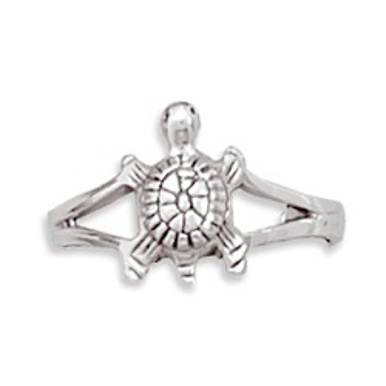 Split Shank 3D Turtle Adjustable Toe Ring