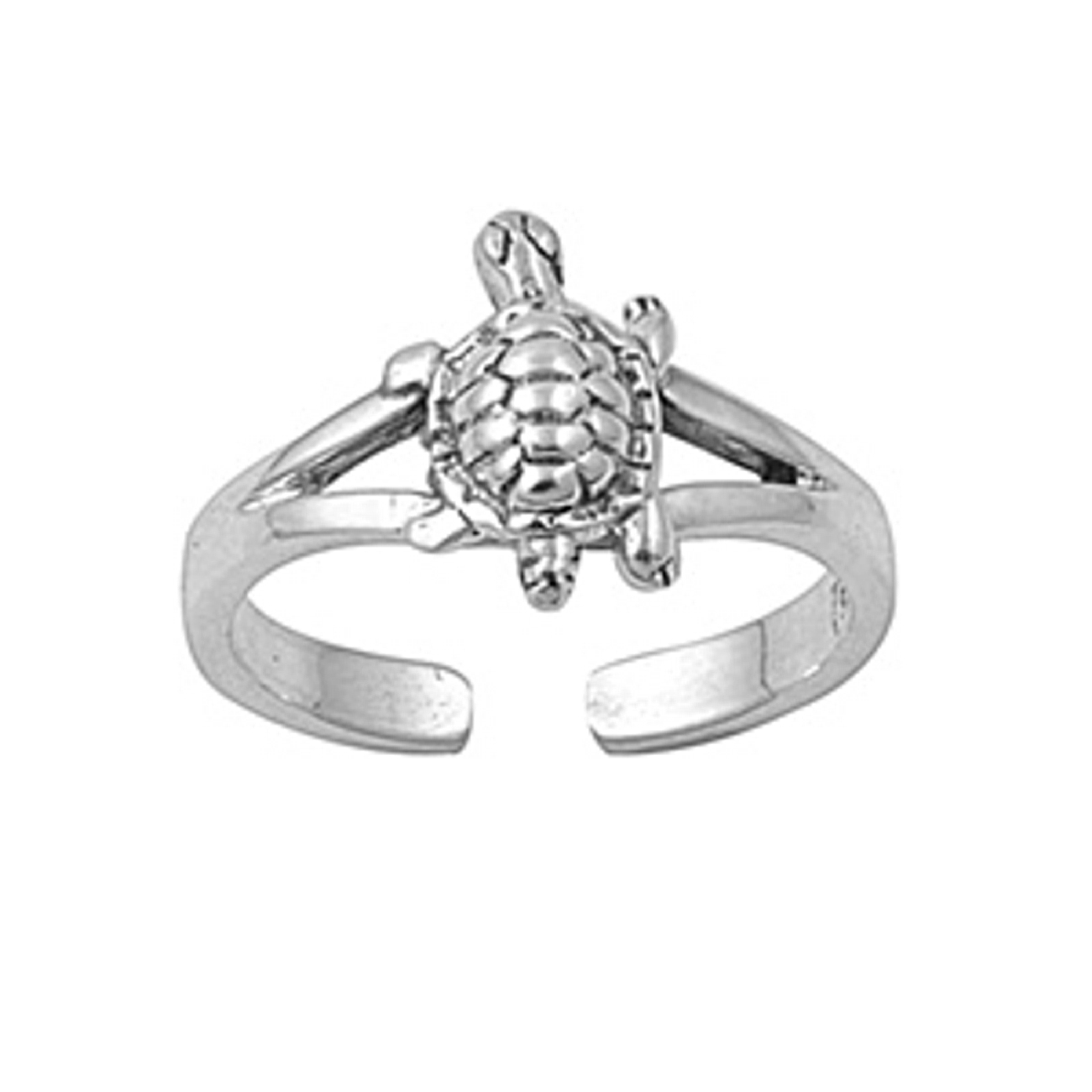 Split Shank Turtle Adjustable Toe Ring
