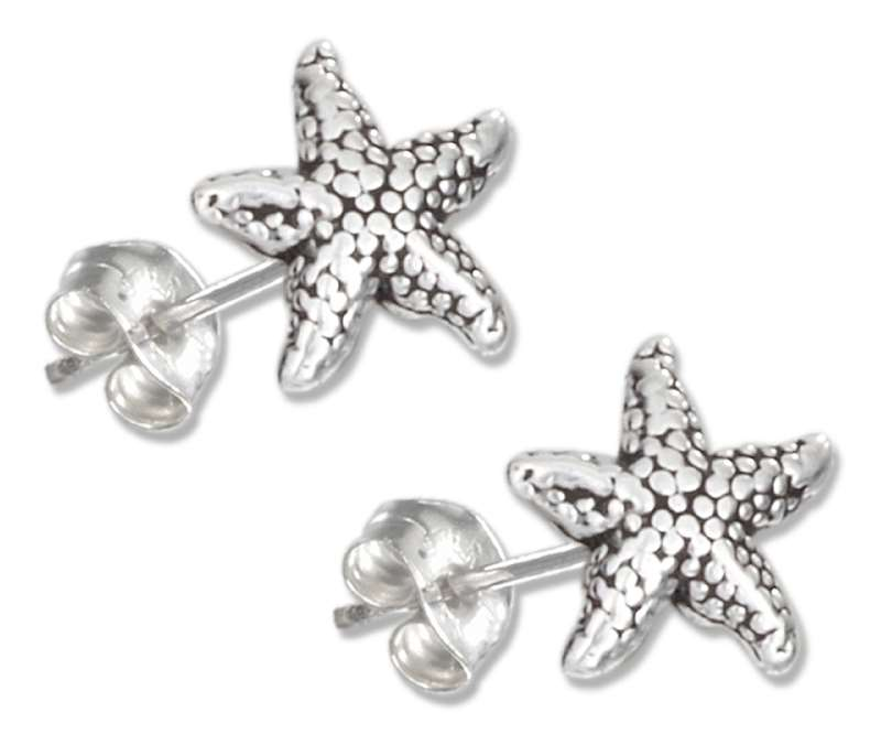 Small Starfish Sea Star Post Earrings
