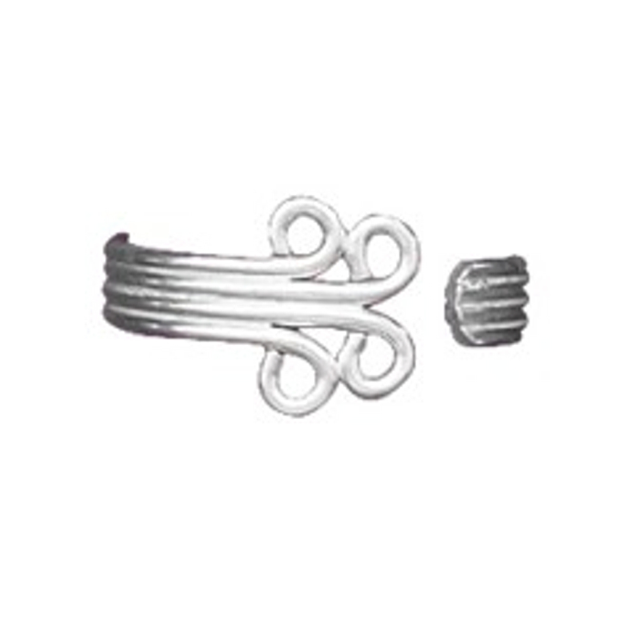 Bypass Wrap Scrolled Ends Adjustable Toe Ring
