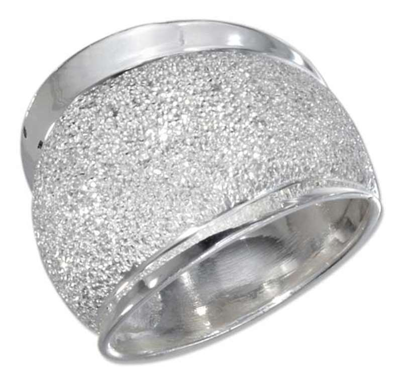 Tapered Stardust Dome Ring