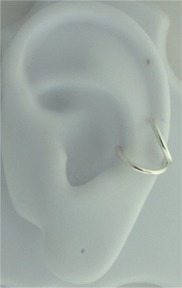 Left Or Right Single Nonpiercing Thin Round Wire Band Ear Cuff