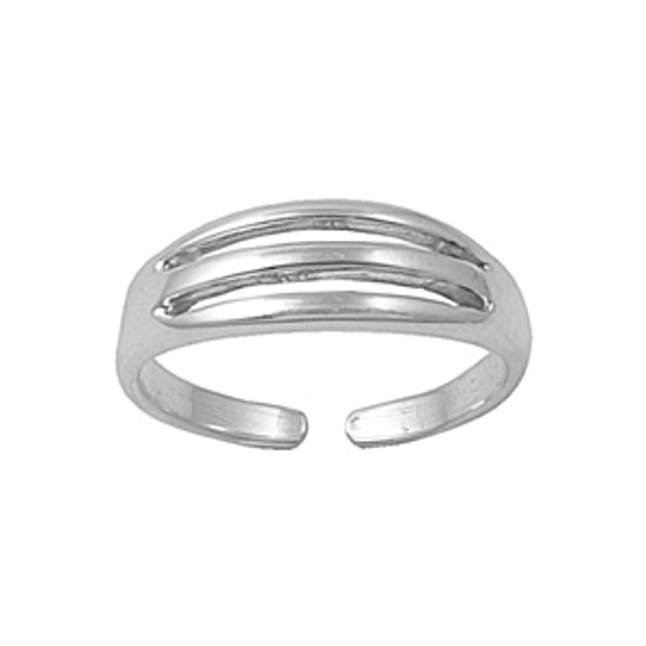 Three Row Band Adjustable Toe Ring