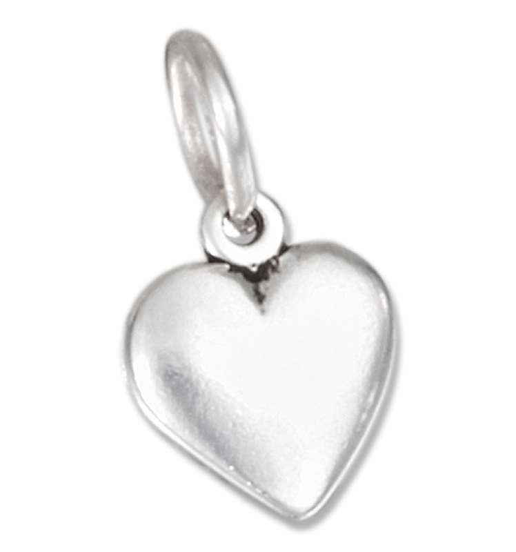 Small Slightly Curved Heart Charm