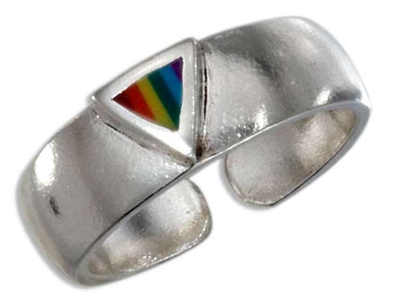 Triangle Rainbow Toe Ring