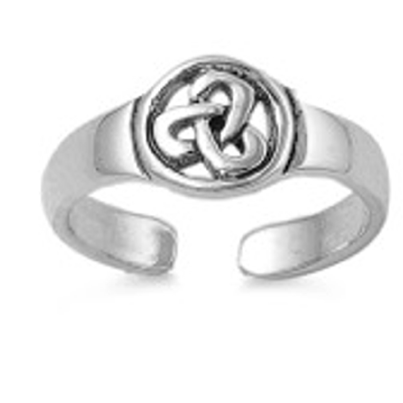 Circled Celtic Trinity Knot Toe Ring