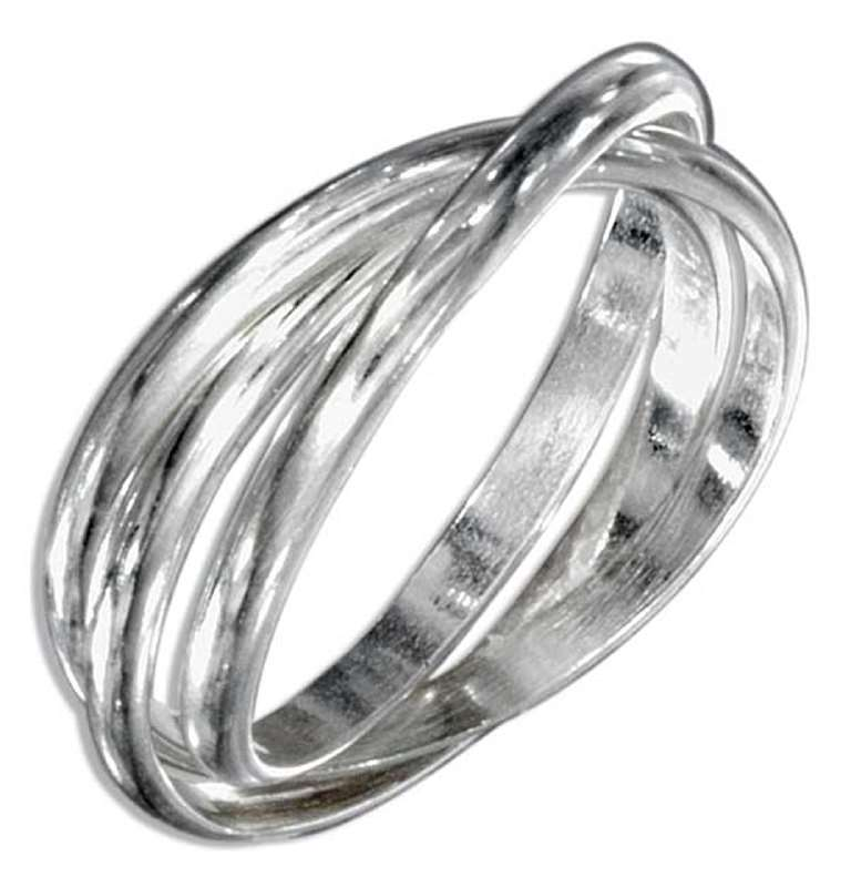Unisex 3 Band Rolling Ring Or Russian Wedding Ring