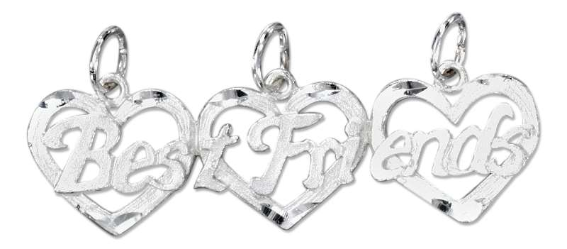 BEST FRIENDS Three 3 Piece Charm