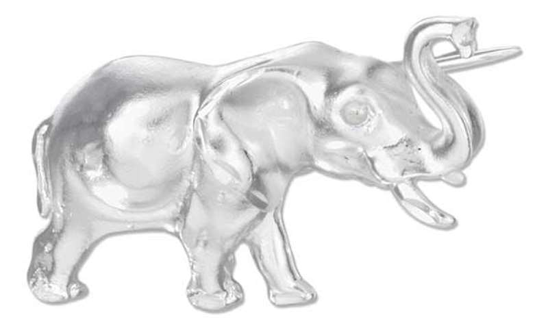 Trumpeting Elephant Pin Brooch