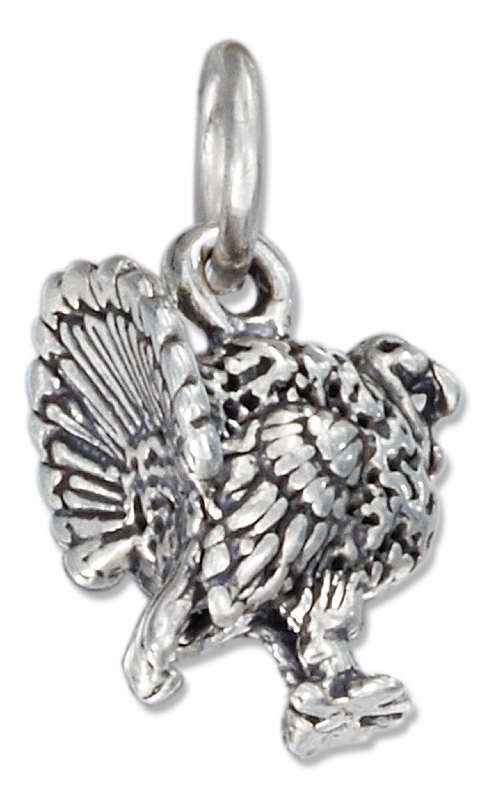 3D Tom Gobbler Male Turkey Charm