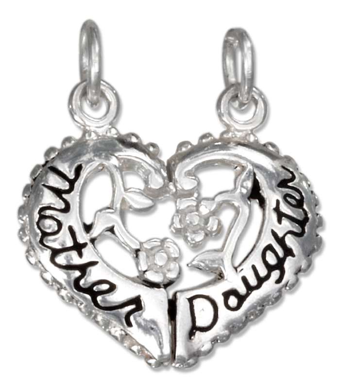 MOTHER DAUGHTER 2 Two Piece Heart Charm
