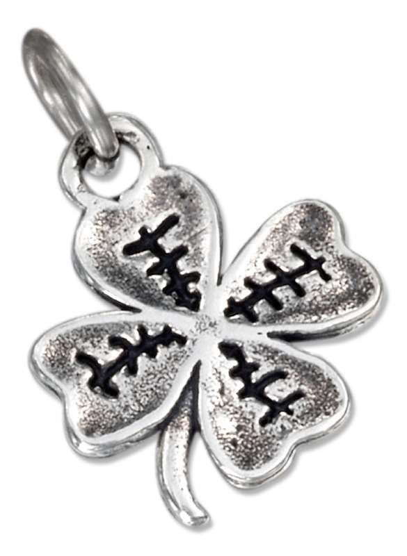 Etched Four Leaf Clover Good Luck Charm