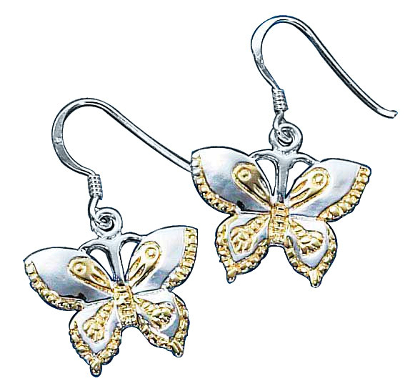 Etched Butterfly Earrings