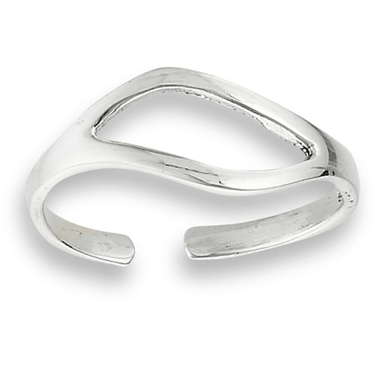 Unique Curved Split Shank Adjustable Toe Ring