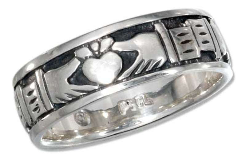 Unisex Multiple Claddagh Band Ring