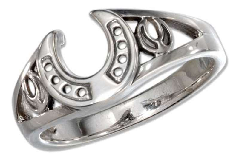 Unisex Three Horseshoe Rings