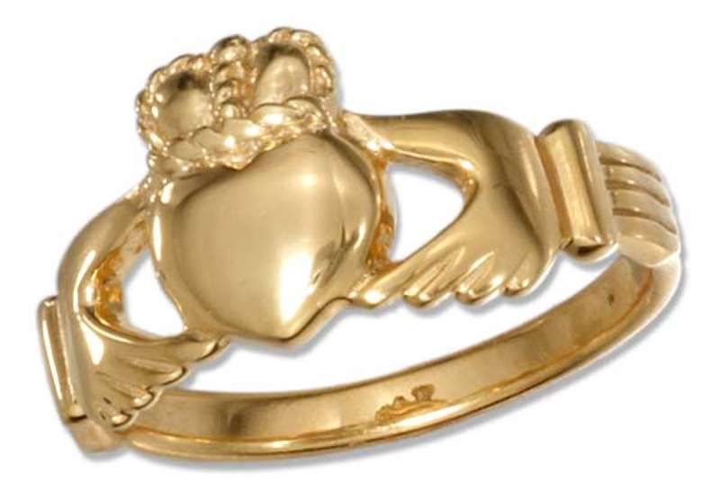 Unisex Gold Vermeil Claddagh Ring