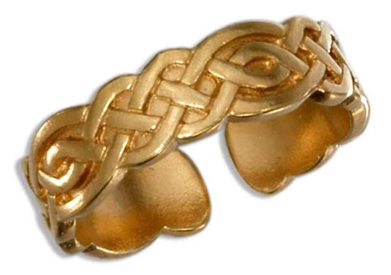 Gold Vermeil Celtic Closed Weave Toe Ring