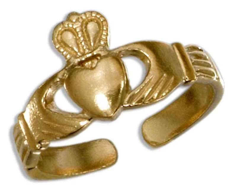 Gold Vermeil Claddagh Toe Ring
