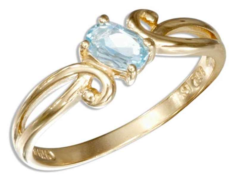 Gold Vermeil Blue Topaz Ring