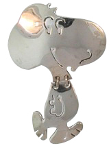 Vintage TA-112 Preowned Walking Snoopy Pin Brooch