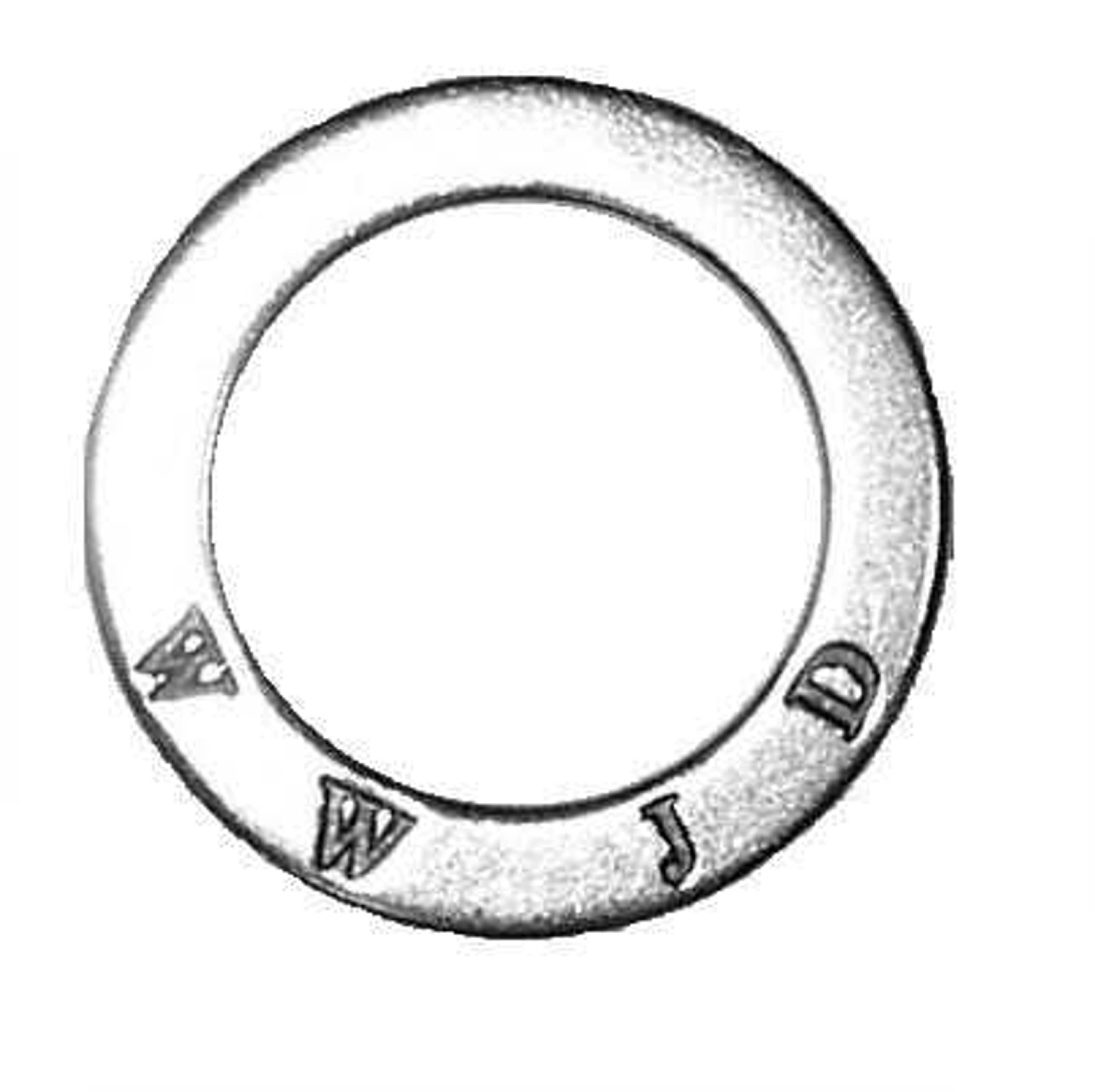 """WHAT WOULD JESUS DO"" ""WWJD?"" Circle Shaped Affirmation Slide Pendant"