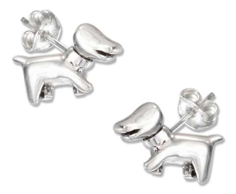 Daschund Puppy Dog Post Earrings