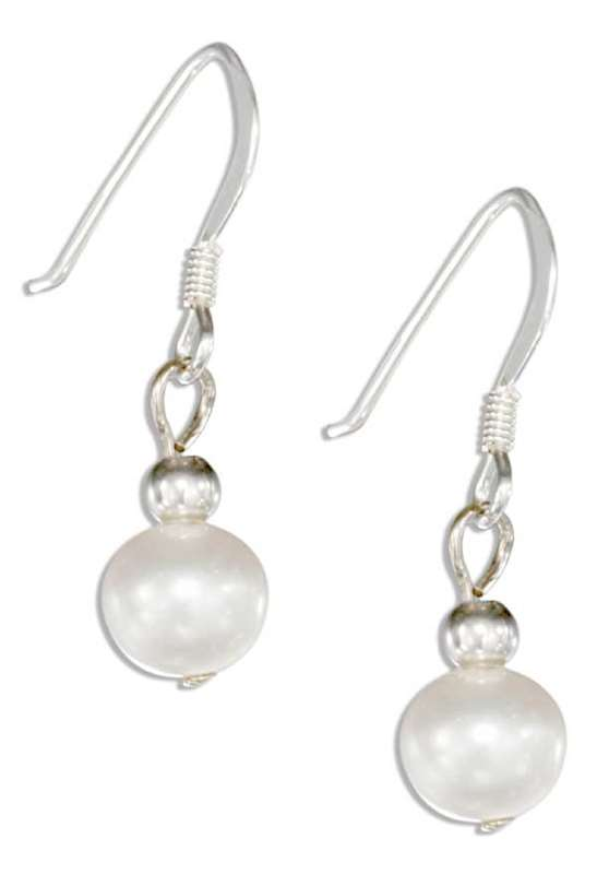 Freshwater And Faux Pearl Earrings