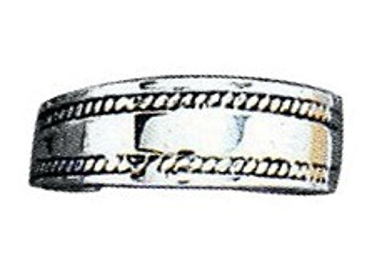 Plain Wide Graduated Band Rope Edging Adjustable Toe Ring